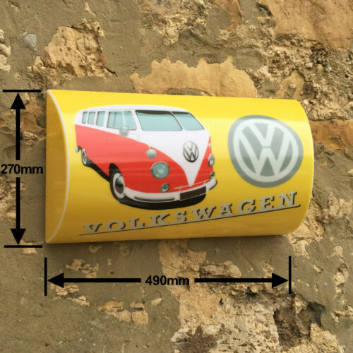 VW VOLKSWAGEN SPLIT SCREEN CAMPER VAN SIGN LED LIGHT BOX  UK man cave garage