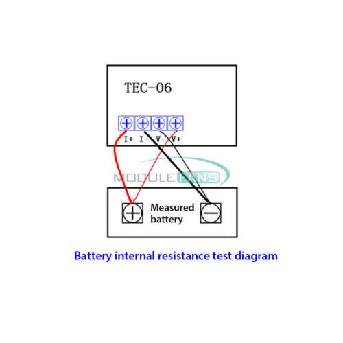 Électrique 16 W charge max 500AH TEC-06 Batterie Capacité Testeur affichage DEL avec Ventilateur