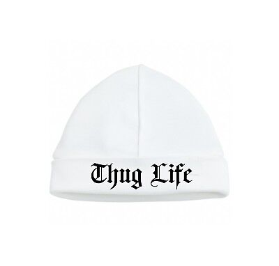 Baby beanie hat Thug life Alternative, cute funny,rap,2 pac