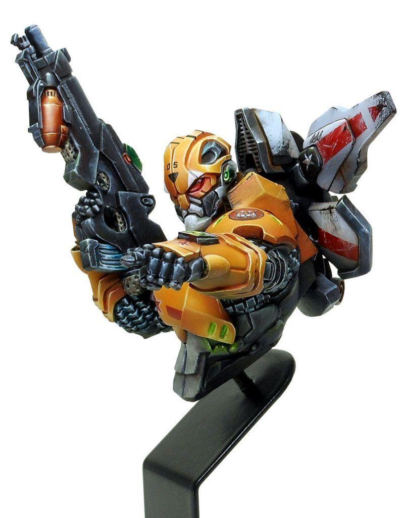 Luxumbra Infinity Tigre Soldier Corvus Belli Busto Yu Jing JSA Scifi Modello