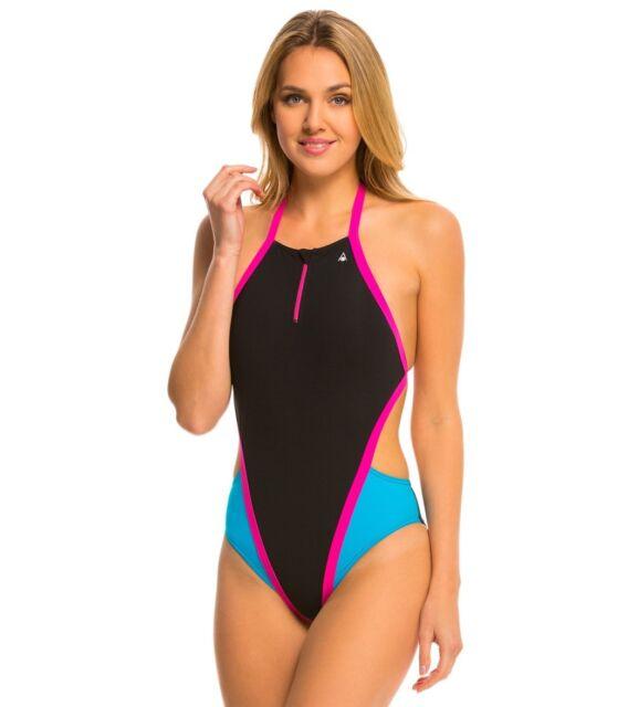 64fd3d485 New Aqua Sphere Cindy Women s Swimsuit One Piece Black Size 32 ( S ) A151-