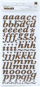 American Crafts Thickers Printed Chipboard Letter Stickers Marquesa Chestnut