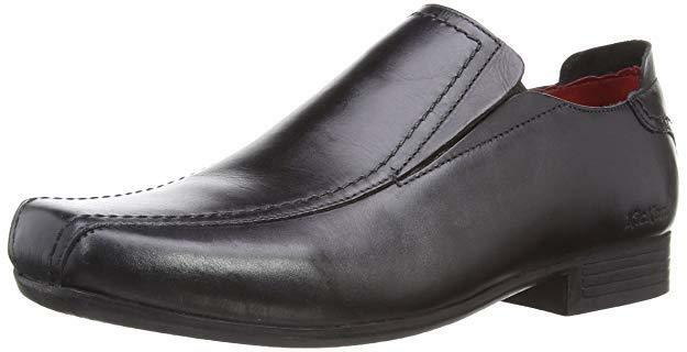 Kickers Men's Westend Twin Black shoes Leather Loafers UK 6.5 - NEW Boxed