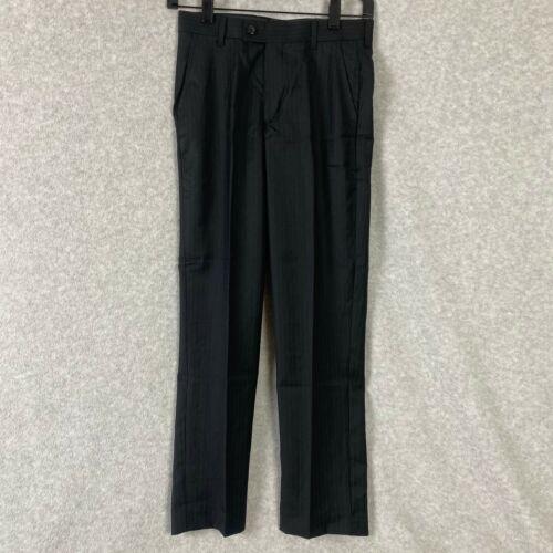 Class Club Boys Dress Pants Black Pinstripe School Uniform Size 12 26 x 26