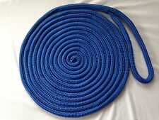 5/8 X 40 feet Blue Double Braid Nylon Rope Dock Line