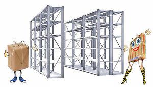 10-x-20-m-FACHBODENREGALE-verzinkt-Hoehe-2-00-m-0-50-Tiefe-Feldbreite-1-00-m