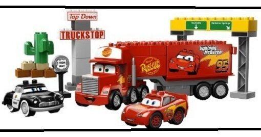 Lego Duplo 5816 Mack auf großer Fahrt ( ( ( Cars ) Mack's Road Trip LKW Auflieger 2221bf