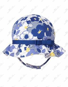 NWT-GYMBOREE-BABY-GIRL-BLUE-FLOWER-PRINT-SUN-HAT-SIZE-6-12-MONTHS
