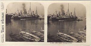 Napoli Vista Del Port Napoli Italia Stereo Vintage Analogica Ca 1910
