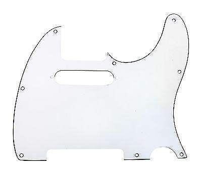 920D CS White 3 Ply Strat Cut Pickguard for Fender Tele CNC Precision Cut
