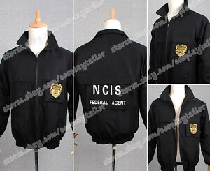 New! NCIS Staff Black Jacket Uniform Costume Cosplay Clothes