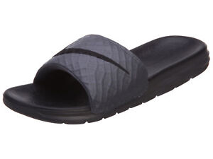 c3004be6a675 Nike Benassi Solarsoft Slide 2 Mens 705474-090 Dark Grey Black ...