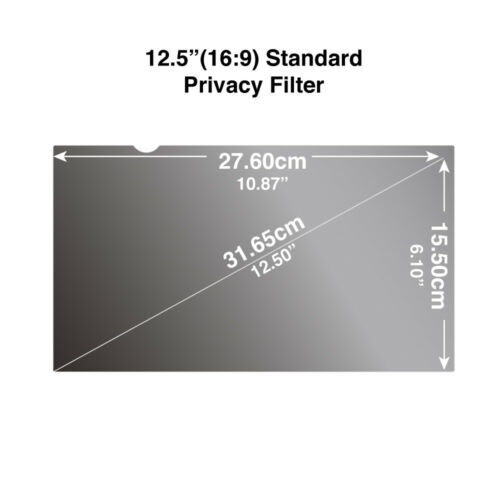 "276 x 155mm Screen Protector Privacy Filter for Wide Screen Laptop 12.5/"" 16:9"