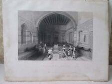 Vintage Print,TURKISH DIVAN,Damascus,Bartlett,Fisher's Views,1836