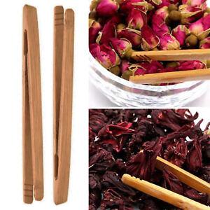 New-Bamboo-Wood-Wooden-Food-Toast-Tongs-Toaster-Bacon-Sugar-Ice-Tea-Tong-Salad
