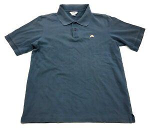 Ellesse-Italia-Mens-Blue-Short-Sleeve-Polo-Shirt-Size-Medium