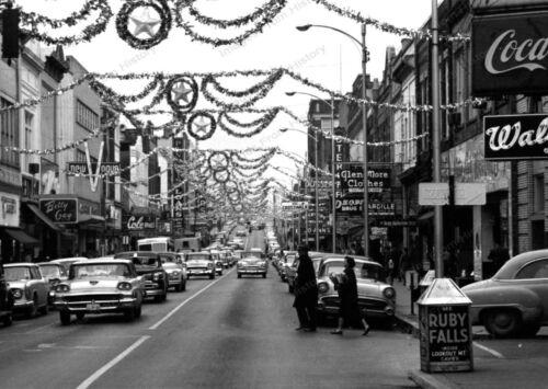 8x10 Print City Scene Auto/'s Johnson City Tennessee 1955 #JCTN2
