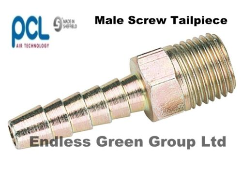PCL MALE SCREW TAILPIECE - air compressor hose fitting  CHOICE OF SIZES & THREAD