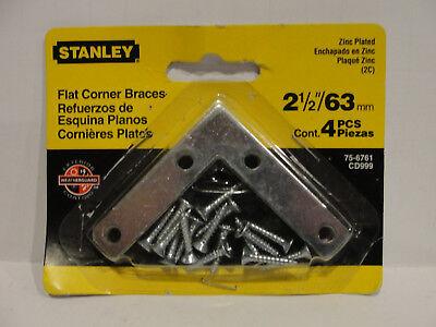 "2 X 4 pcs National 2 1//2/"" x 1//2/"" Corner Braces Zinc Plated N113-928 Stanley"