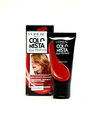 LOreal Colorista Hair Makeup Red Hair