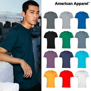 American-Apparel-T-shirt-2001-Plain-Fine-Jersey-short-sleeve-Blank-tee-Shirt