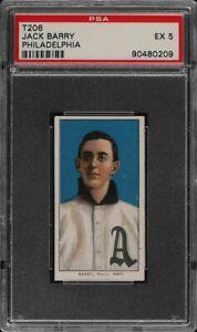 Rare 1909-11 T206 Jack Barry Sovereign 350 Philadelphia PSA 5 EX
