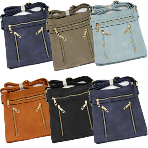 Fashion Ladies Faux Leather Cross Body Messenger Bag Women Shoulder Tote Satchel