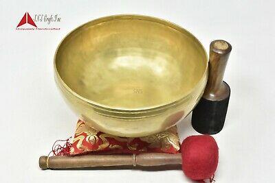 Yoga Old Bowl By Thamelmart Root and Om Chakra C Note Anitque Hand Hammered Tibetan Meditation Singing Bowl 10 Inches