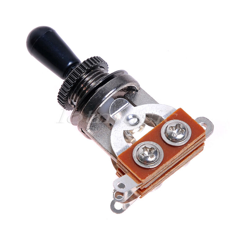 new 3 way toggle switch electric guitar switch black knob ebay. Black Bedroom Furniture Sets. Home Design Ideas