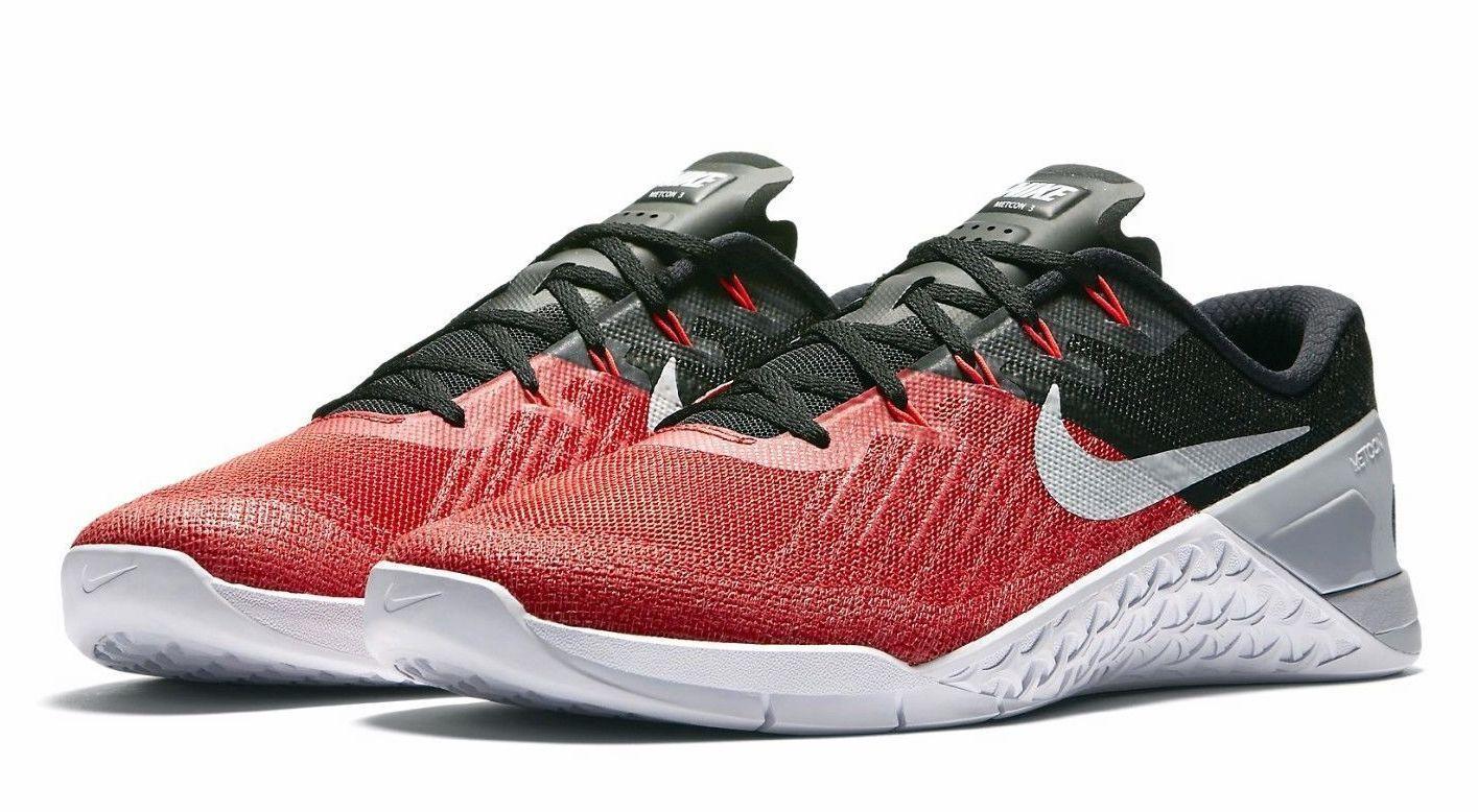 Nike Metcon 3 Men's Training Shoes 852928-600, University Red/Wolf Grey-Black 14