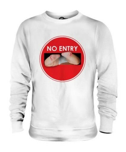 No Entry Baby Unisex Pullover Top Geschenk Nappy Windeln