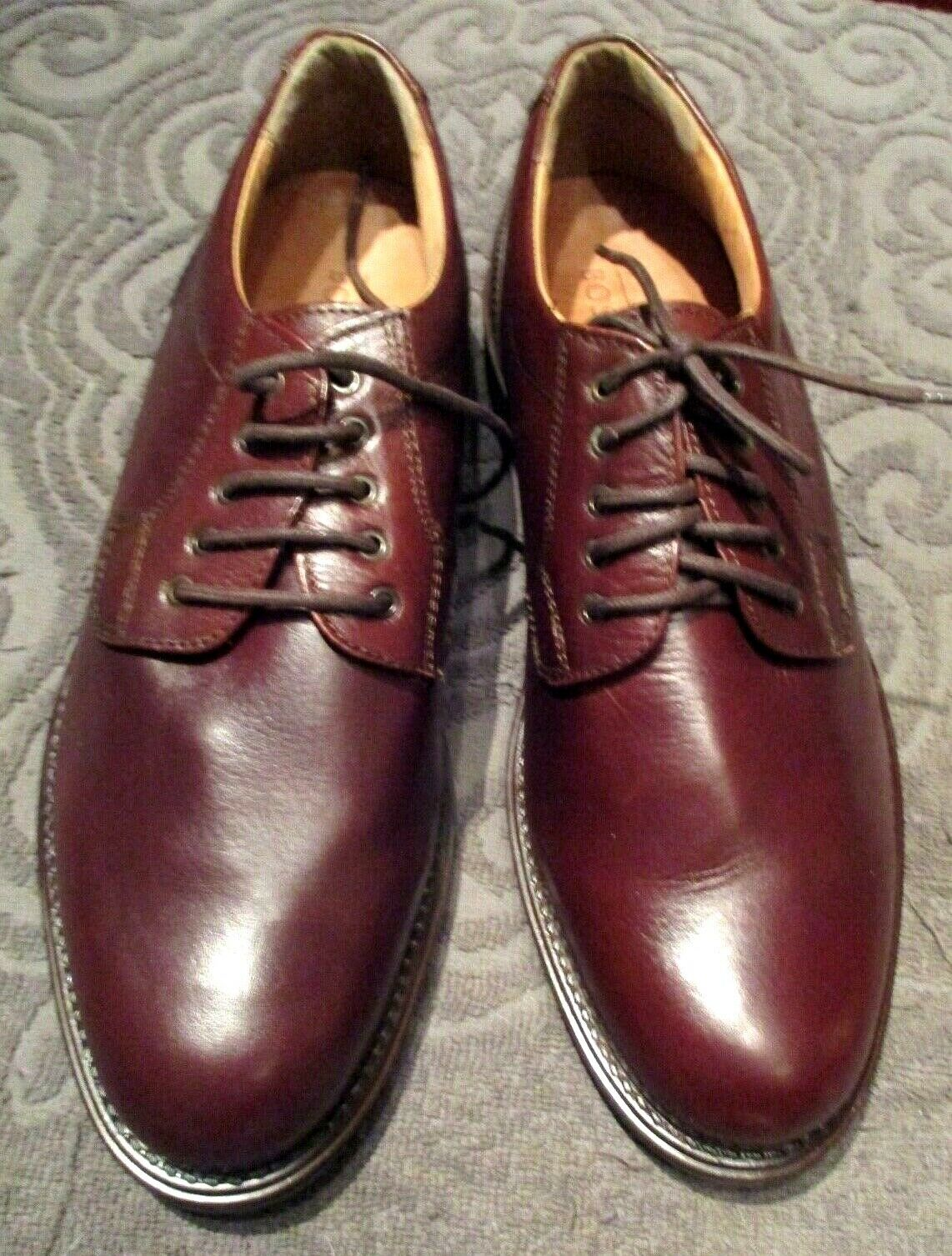 Bostonian Mens shoes Oxford Leather Lace Up Size 9.5 M Brown Leather Good Tread