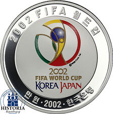 Korea 10000 WON 2002 Silber PP Fussball / FIFA Worldcup: Korea - Japan Jeonju