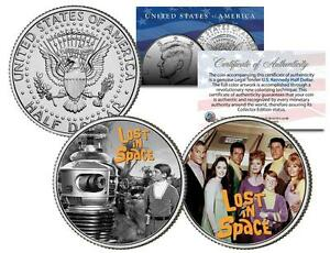 LOST-IN-SPACE-TV-SHOW-JFK-Half-Dollar-2-Coin-Set-Will-Robinson-Robot-Smith