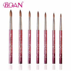 BQAN-1PC-Nail-Art-Acrylic-Brush-Manicure-Beauty-Tool-Kolinsky-Hair-Metal-Handle