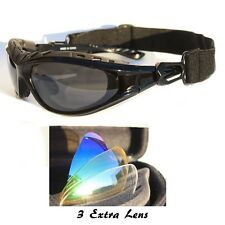 Professional Cycling Bicycle Glasses Casual Sport Sunglasses with Case Strap 4 o