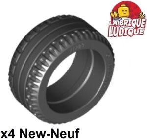 Lego-4x-Reifen-24x9-9-Rillenkugellager-Groesse-Couchtisch-City-Schwarz-Schwarz