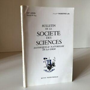Boletín de La Société Las Ciencias Históricos Y Naturales Corse N º 644 1983