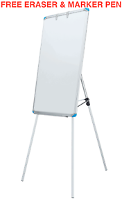 Linno® Quality Flip Chart Easel Magnetic Whiteboard Presentation Board900X600mm  3550724348737