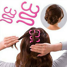 Girl's Rosa Magic Twist Tie Cabello Trenzado Herramienta de estilo de pelo titular Maker UK
