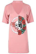 f25ea5a1fba5 item 3 Womens Ladies Rock American Choker Neck Party Mini Tunic Longline T  Shirt Dress -Womens Ladies Rock American Choker Neck Party Mini Tunic  Longline T ...
