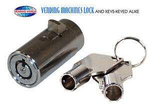 18 new keyed alike Universal Replacement Plug Lock Soda Snack Vending Machine
