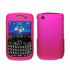 Hard Rubberized Case for Blackberry Curve 8520 - Hot Pink