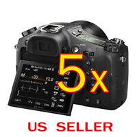 5x Clear Lcd Screen Protector Guard Cover Film Sony Cyber-shot Dsc-rx100 Camera