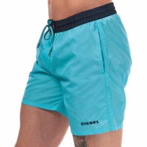 Men-039-s-Diesel-BMBX-2-017-Respirant-Mesh-Brief-Doublure-Swim-Shorts-En-Bleu
