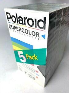 Polaroid-Standard-Grade-Blank-VHS-5-Pack-T-120-Brand-New-Sealed