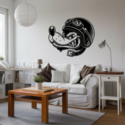 WOLF BIKER Wall Art Sticker Vinyl Transfer Graphic Decal Home Decor UK