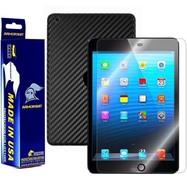 ArmorSuit MilitaryShield Apple iPad Mini 4G LTE Screen + Black Carbon Fiber Skin