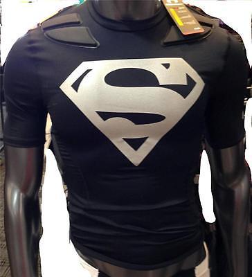 Oscurecer Discriminación capacidad  Under Armour Alter Ego SUPERMAN Gameday Armour 5-Pad Football Shirt Mens  NWT | eBay