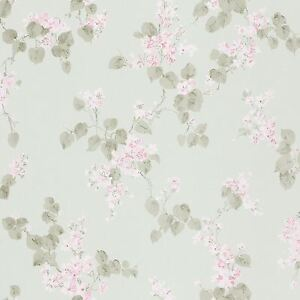 Image Is Loading EMILIA FLORAL BLOSSOM WALLPAPER MINT GREEN RASCH 501537